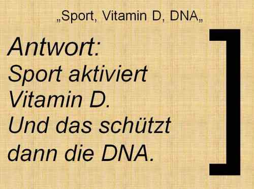 Folie197 Vitamin D Sport Vitamin D DNA